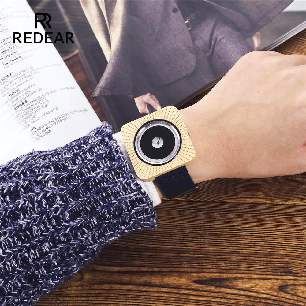 REDEAR Zegarki Bambusowe zegarki dla mężczyzn Kobiety Zegarki - Zegarki damskie - Zdjęcie 5