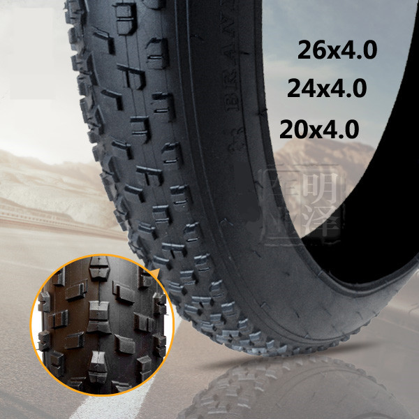 New brand mountain bicycle Snow bike/beach bicycle tires Fat Bike Tire 26 * 4.0 bike tyre Beach Cruiser bicycle tyre image