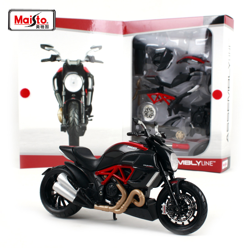 Maisto 1:12 Ducati DIAVEL CARBON Assembly DIY MOTORCYCLE BIKE Model Kit FREE SHIPPING NEW ARRIVAL 39196