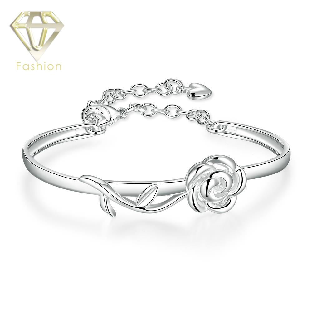 Carter Love Bracelet Classical Silver Plated Lovely Cute Rose Flower Bracelets Bangle Fashion Jewelry for Women