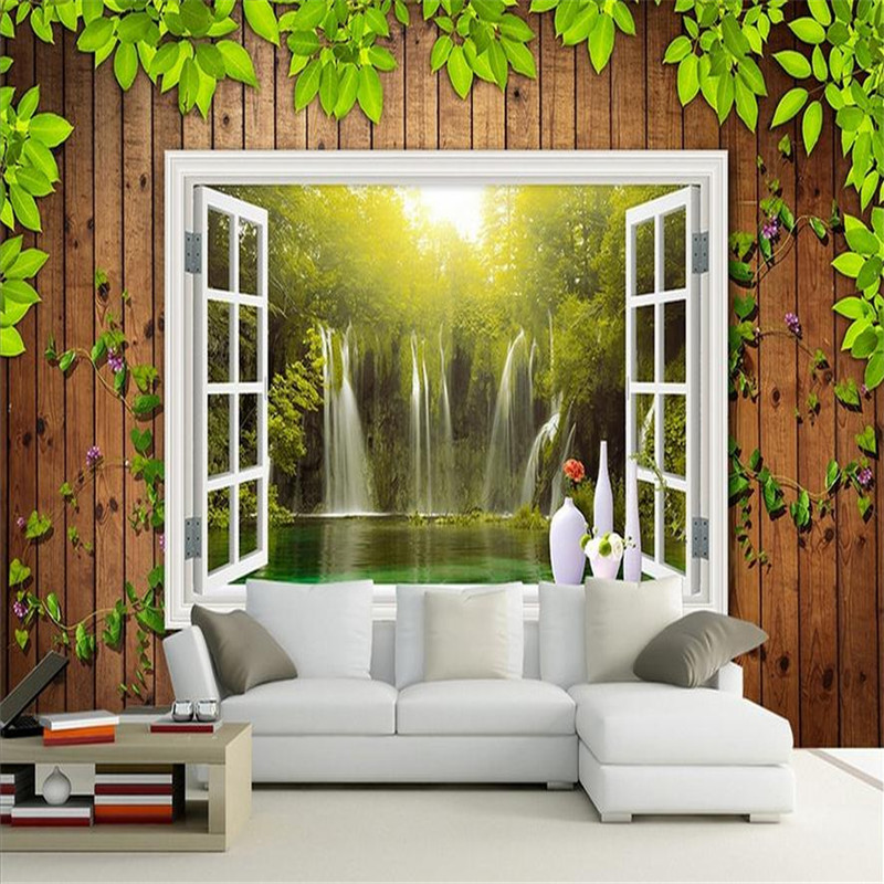 custom 3d HD  modern photo wallpaper stereoscopic home background wall mural wooden walls vine wallpaper for living room bedroom battlefield 3 или modern warfare 3 что