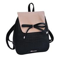 Hot Fashion New Leather Backpack For Teenage Girls Women Backpack School Backpack Black