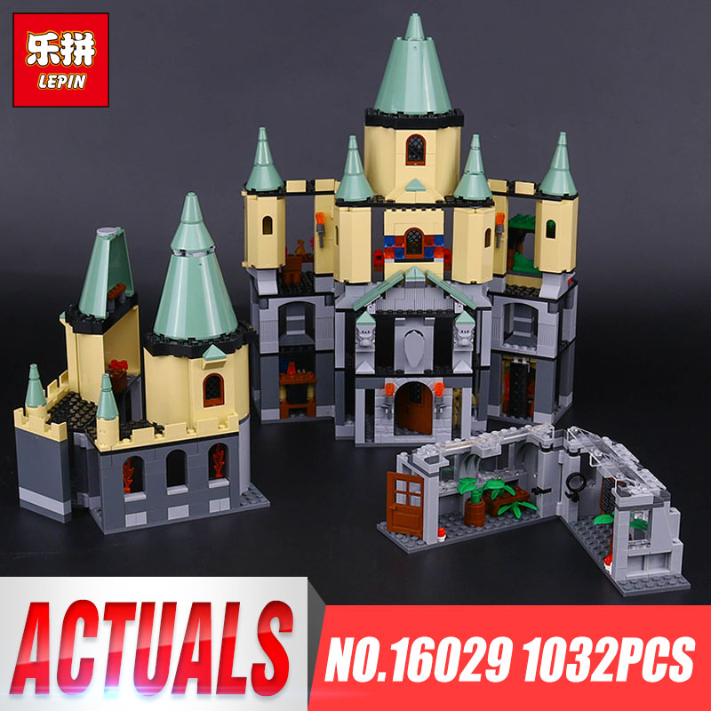 Magic Hogwort Castle Set LEPIN 1033Pcs Movie Series Children Educational Building Blocks Bricks Kids Toys Model Gift 5378 lepin 16030 1340pcs movie series hogwarts city model building blocks bricks toys for children pirate caribbean gift