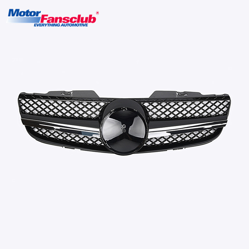 Auto Car Racing Grill Replacement Grille For Mercedes Benz SL Class R230 2007~2009 AMG Emblems Mesh Radiator Front Bumper Modify matte gloss black car racing grille for mercedes w204 grill 2008 2014 c300 c180 amg emblems mesh radiator front bumper modify