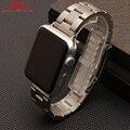 LiaopijiangApple três Pérola Pulseira de Relógio faixa de relógio de aço inoxidável à prova d' água relógio inteligente cadeia de acessórios 38mm