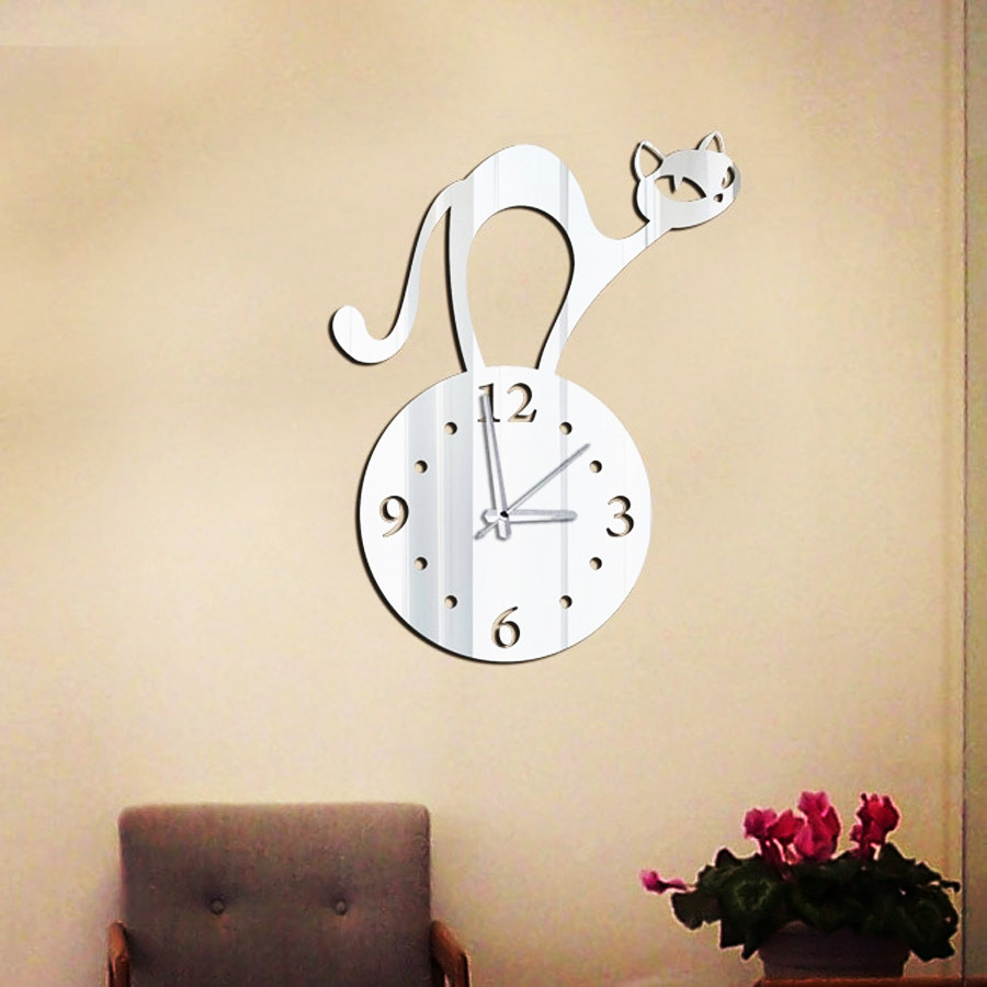 Diy home wall stickers fashion mirror clocks novelty decoration creative art clock - Fashion Home Decor Shop store