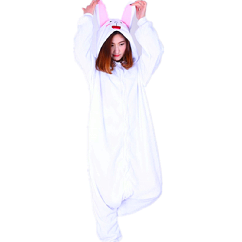 Anime Friends Adult Onesie Pyjamas Cartoon Animal Cosplay Costume Sleepwear Halloween Cony Bunny Brown Cute Bear Jumpsuit Romper