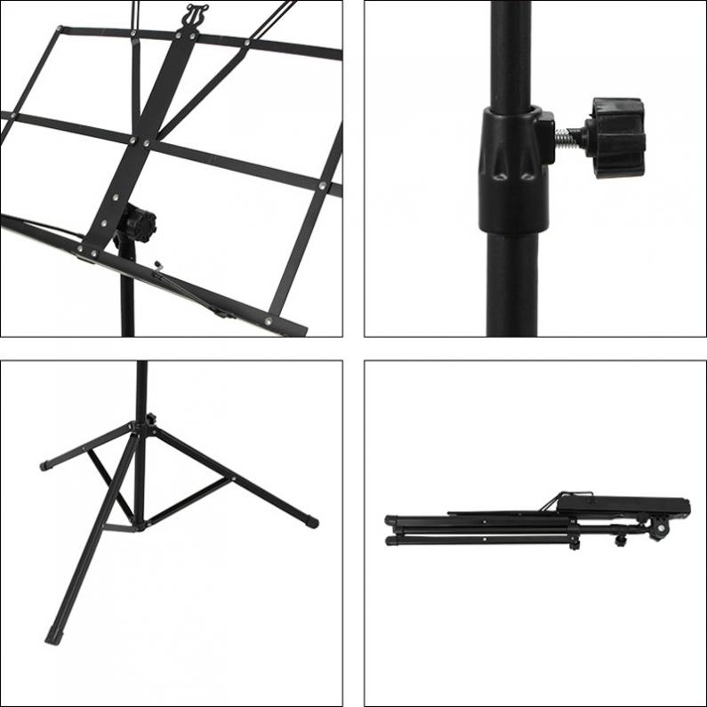 Image 5 - Folding Lightweight Music Stand Aluminum Alloy Tripod Stand Holder Height Adjustable with Carrying Bag-in Guitar Parts & Accessories from Sports & Entertainment