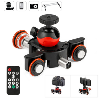Fotografía Control remoto sistema de riel deslizante SmartPhone DSLR Cámara Dolly eléctrico pista deslizante Mini cámara motorizada Sliders