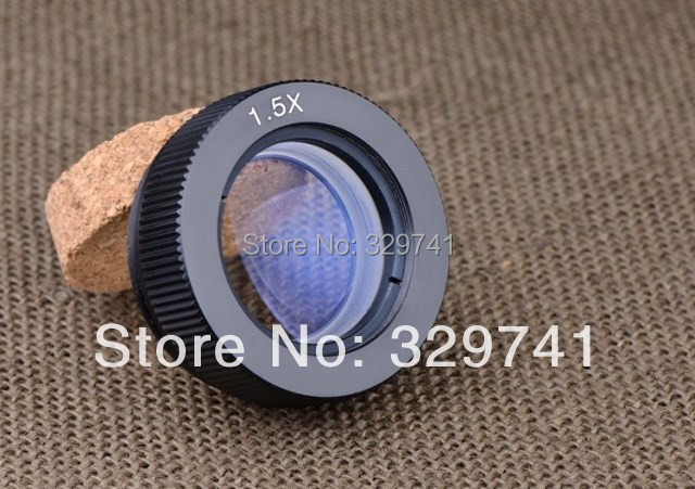 1.5x Auxiliary Objective Lens for Stereo Microscope Parts Accessories Fitting Accessory Free Shipping brand new microscope achromatic objective lens 4x 10x 40x 100x set free shipping