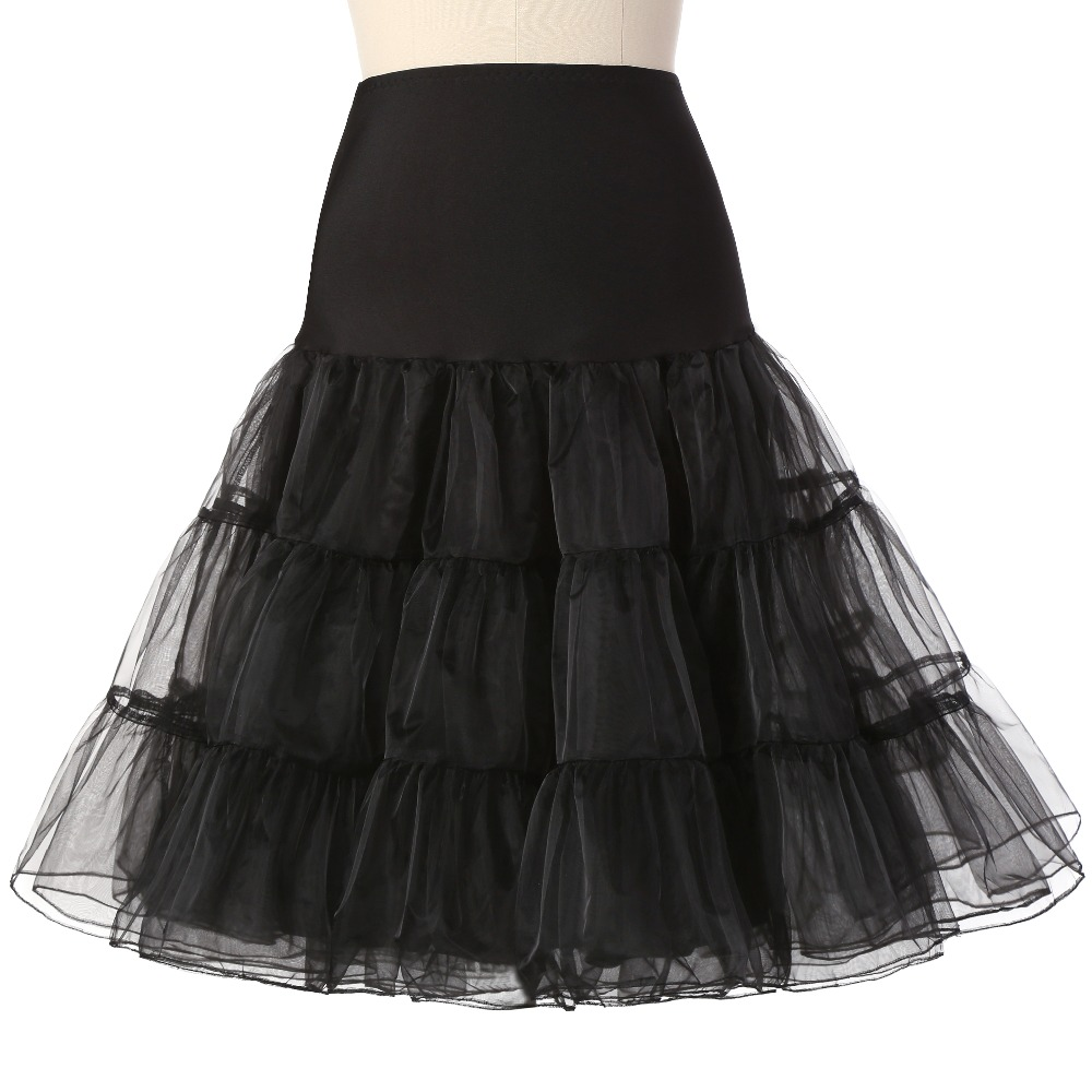 New Hot Sale Short Petticoat For Wedding Vintage Cosplay Tulle Petticoat Crinoline Underskirt Rockabilly Swing Tutu Skirt