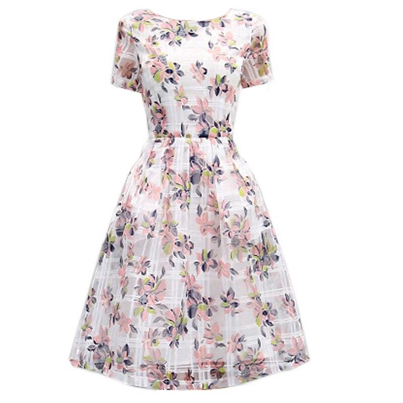 Популярные высокого качества летние модные женские до колен платье с принтом для девочек
