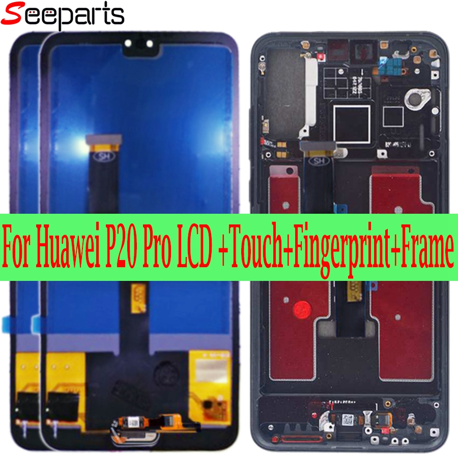 Tft huawei p20 pro display lcd tela de toque digitador assembléia p20 pro tela com quadro 6.1
