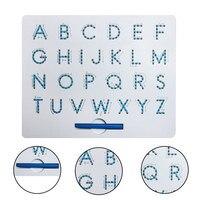 Магнитный Алфавит Письмо распределительный щит с стилусом обучающая игрушка набор обучения орфографии письма для детей