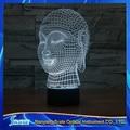 3D Vision Budismo Buda 7 Gradientes de Colores LED de Acrílico Placa de Escritorio Dormitorio de La Lámpara de Luz Decoración de La Noche