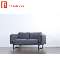 Contemporary 2 seater fabric sofa set design furniture for living room
