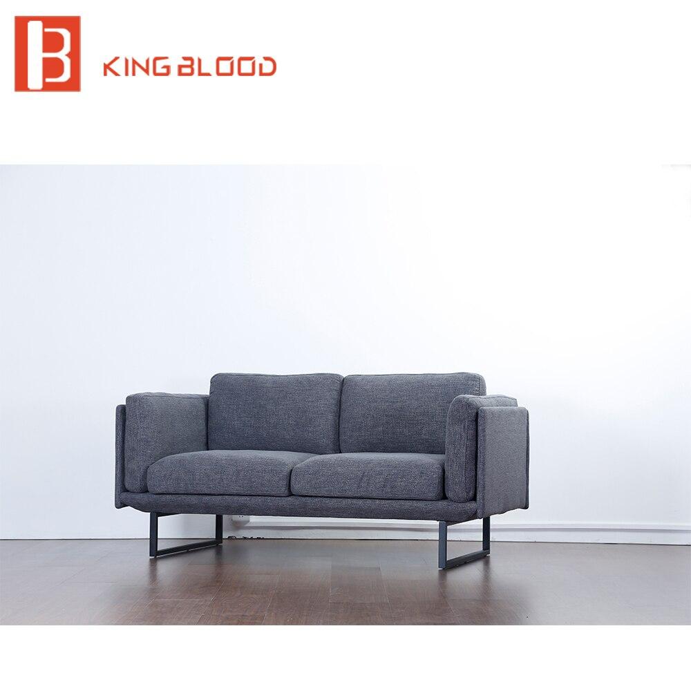 Galleria fotografica Contemporary 2 posti divano in tessuto set mobili di design per soggiorno