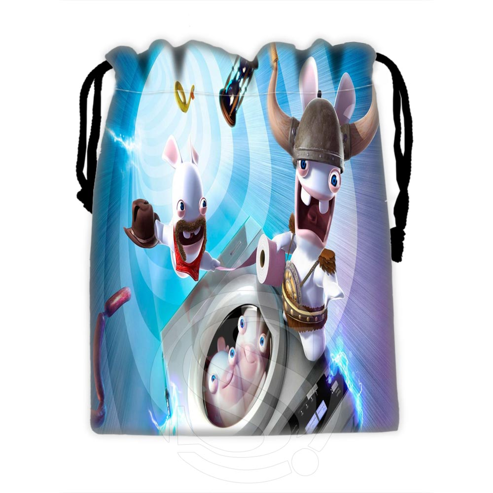 Fashionable Custom Raving Rabbids #4 Drawstring Bags For Mobile Phone Tablet PC Packaging Gift Bags18X22cm SQ00729-@H0621