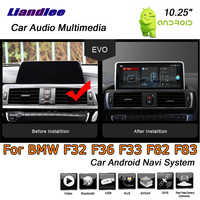 Liandlee 10,25 стерео Android 7,1 для BMW 4 серии F32 F36 F33 F82 F83 EVO 2017 ~ 2019 автомобилей Радио gps карта навигатор навигации Системы