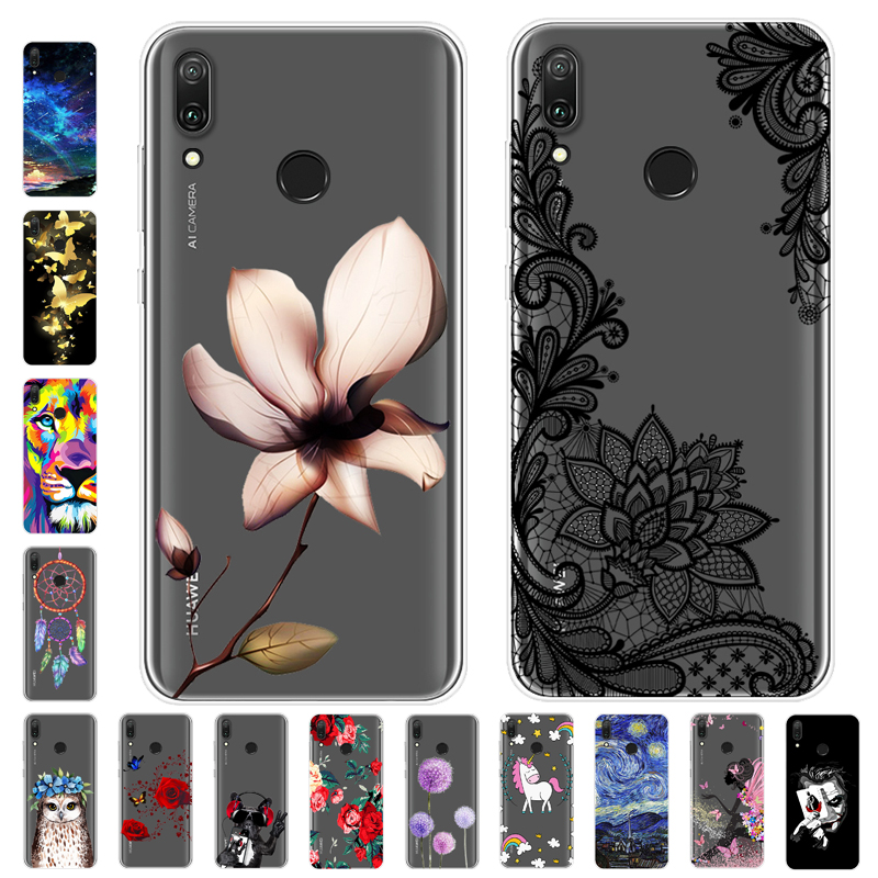 best sneakers c50c9 6cc02 Cartoon Case Huawei Y7 2019 Case Soft Silicone Back Cover Phone Case For  Huawei Y7 Prime Pro 2019 Y72019 6.26 inch