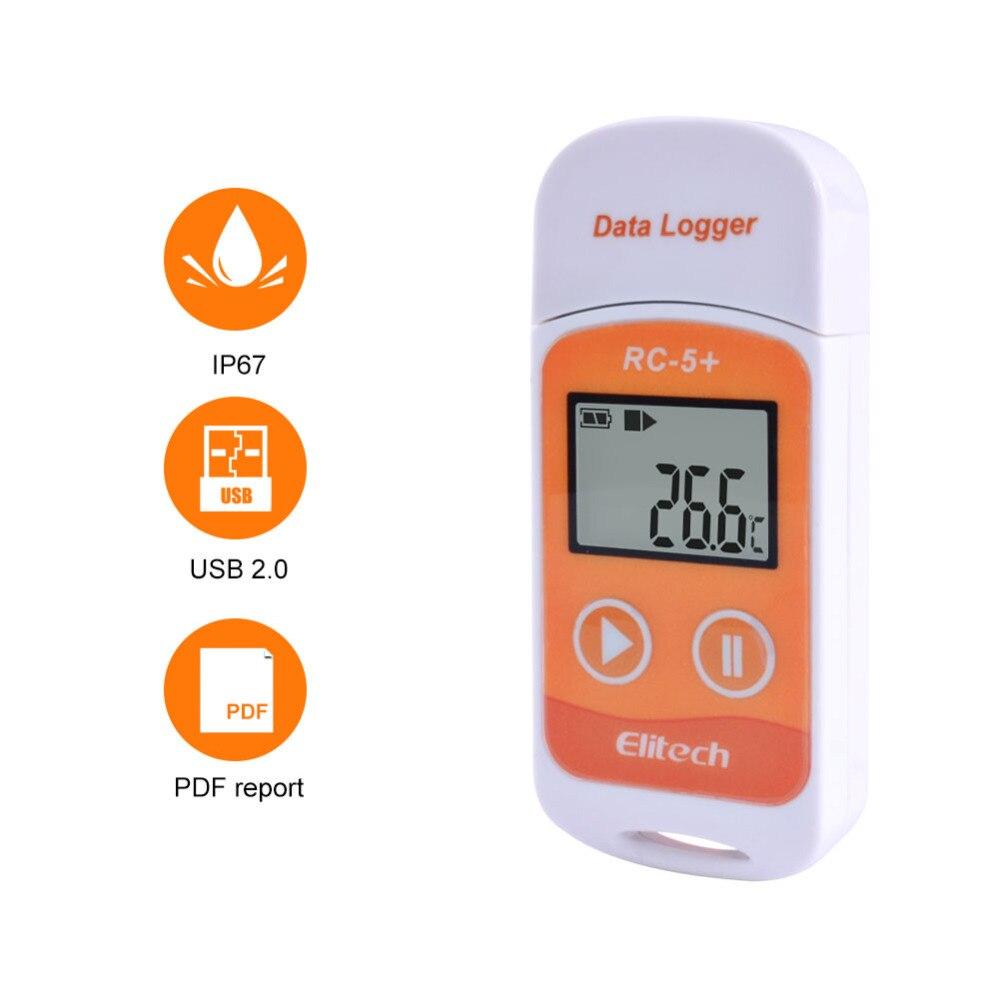 10 peças/lote RC-5 + alta precisão usb temperatura registador de dados atualização para refrigeração, transporte de corrente fria, laboratórios