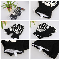 5pairs Lot New Style LED Gloves Fingers Light Up Toy Halloween Dark Party Decoration Flashing Gloves