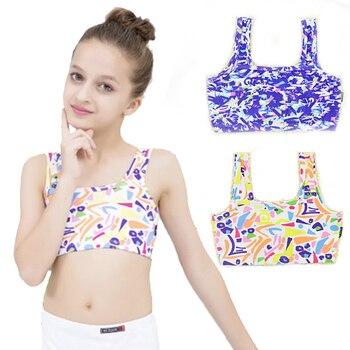 b2458aec5 Camiseta sin mangas de algodón de verano para niñas, ropa interior para  niños, ropa interior de color para bebés, camiseta de estudiante de 4 a 14  años, ...