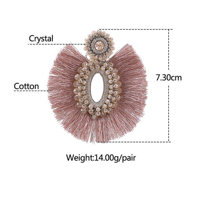 Trendy Hoop Tassel Earrings For Women