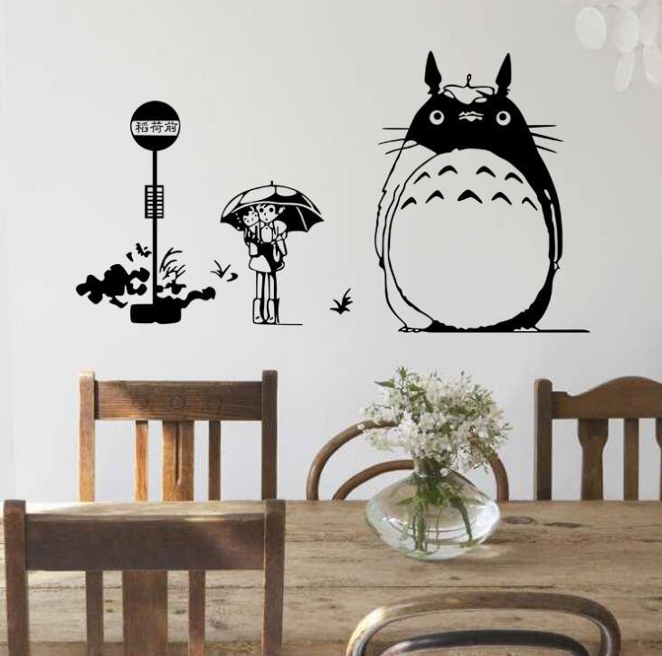 sets japonesa de dibujos animados etiqueta de la pared de mi vecino totoro vinilo tatuajes