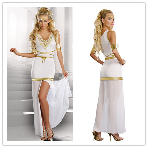 2015 Dress Women Cosplay Classic Halloween Costumes Cleopatra Game costumes  Exotic apparel Greek goddess dress suit hot selling 257cab1a9b7f