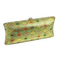 Luxury green crystal Diamond rhinestone clutch purse Women Party Evening Bag Ladies Rhinestone prom pouch dinner bag female bag