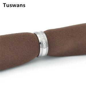 Image 5 - 8 mét Bạc Màu Tungsten Nhẫn Cho Nam Giới Phụ Nữ Ban Nhạc Đám Cưới Shinning 7 Trắng AAA + Zircon Tungsten Carbide Nhẫn đồ trang sức