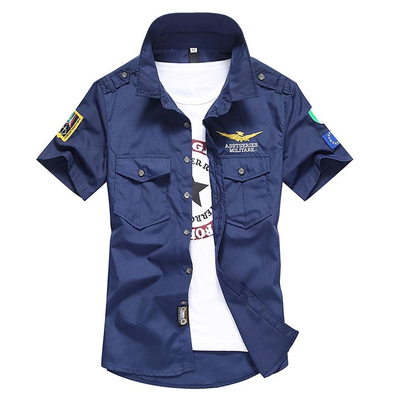Camisa de manga corta de los hombres de la camisa de la fuerza aérea - Ropa de hombre