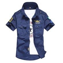 Zemtoo Men's Air Force Shirt Tooling Trumpas rankovių marškinėliai 5color 2018 Mada Vyriškos marškinėliai Klasikiniai pėdkelnės Kasdieniai suknelės marškiniai