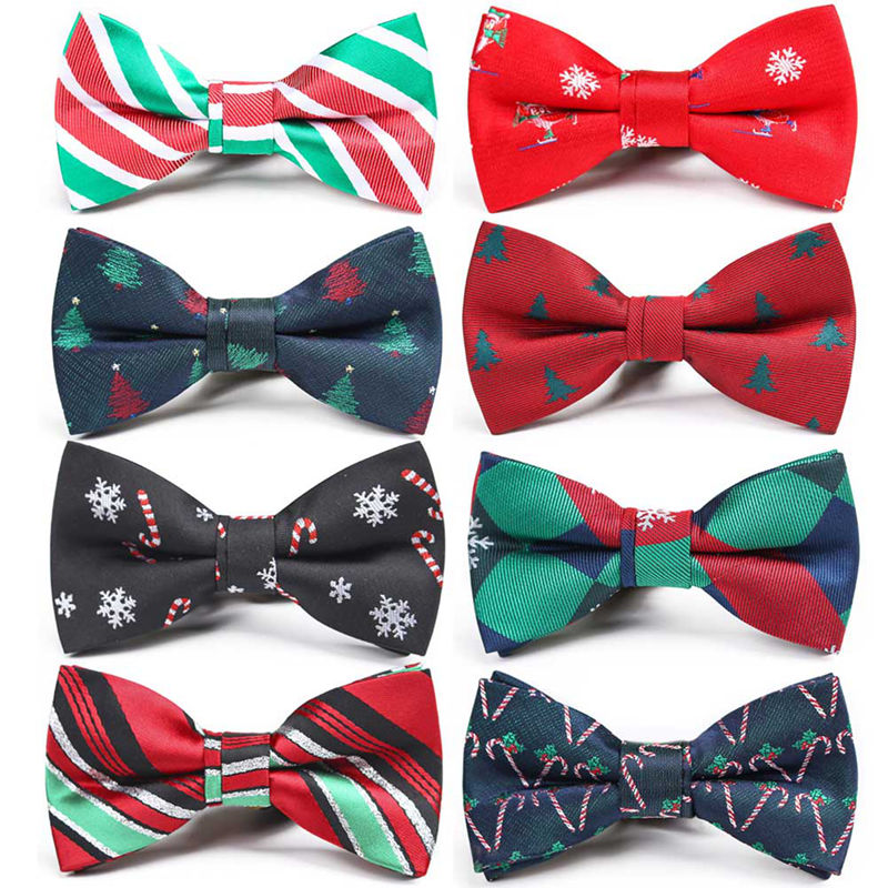 New Christmas Bow Tie Men's Green Christmas Tree Bowtie