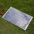 18V 30W Portable Solar Panel Car Battery Bank Charger W/Alligator Clip