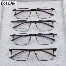 BCLEAR Men Titanium Alloy Eyeglasses Frame Male Eyewear Flexible Temples Legs IP