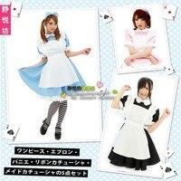 Alice S Adventures In Wonderland Cosplay Alice Costume Apron Dress Meidofuku Evening Dress Women S Dress