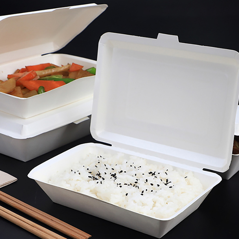Disposable Packing Boxes Party No-Clean Cases Fast Food Tray Containers Restaurant Packaging Box Convenient Ware Takeaway Case