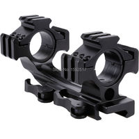 FIRE WOLF Quick Release Scope Mount 1 25mm/30mm Dual Ring Cantilever Heavy Duty Rail 20mm