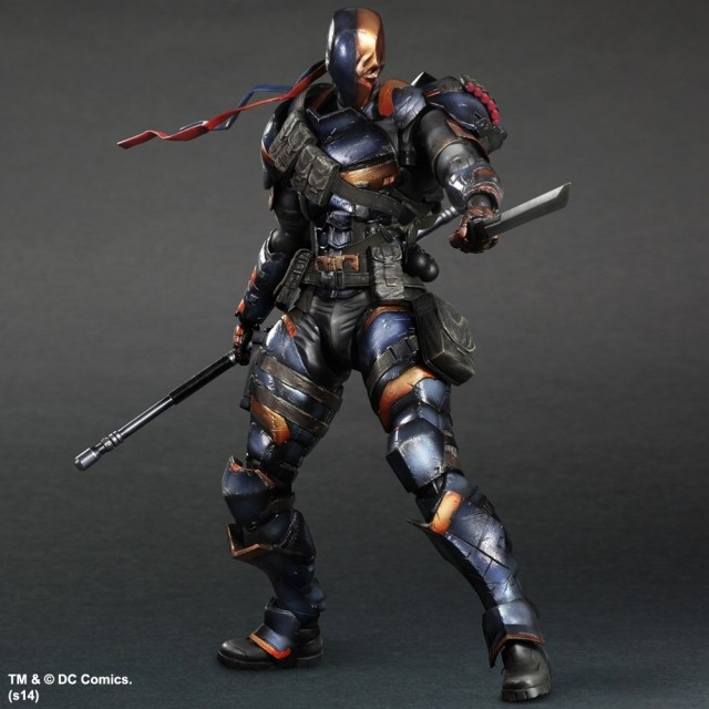 Deathstroke Action Figure Batman Play Arts Kai PVC Toys 270mm Anime Model Bat Man Deadpool Playarts Kai Deathstroke batman action figure play arts kai sparda pvc toys 270mm anime movie model sparda bat man playarts kai free shipping gc051