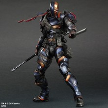 Deathstroke Action Figure Batman Play Arts Kai PVC Toys 270mm Anime Model Bat Man Deadpool Playarts Kai Deathstroke