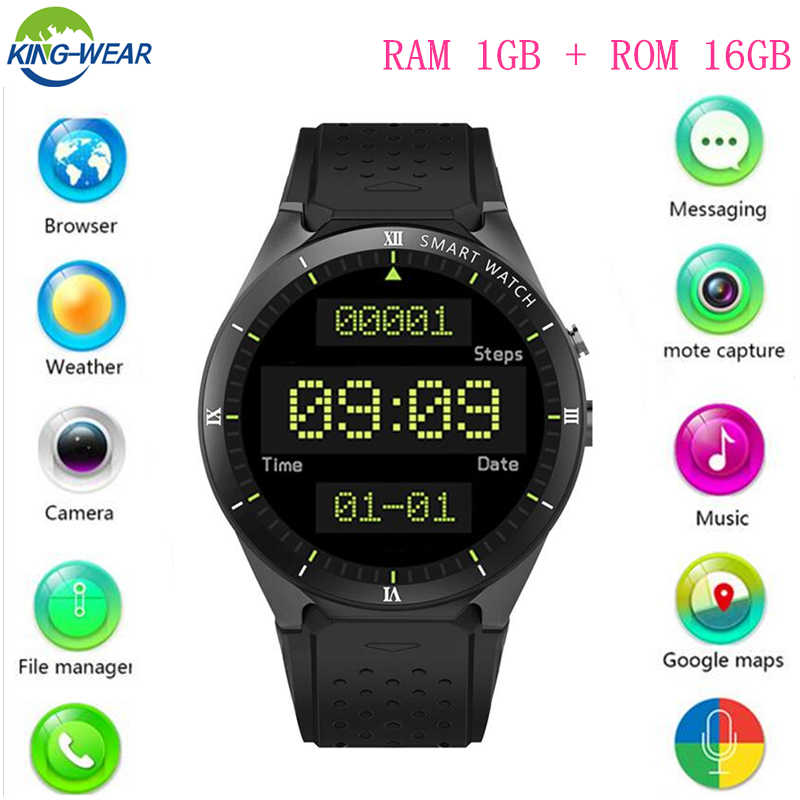KW88 Pro Android 7.0 Smart Watch 1GB + 16GB Bluetooth 4.0 WIFI 3G Smartwatch men Wristwatch Support Google store Voice GPS Maps