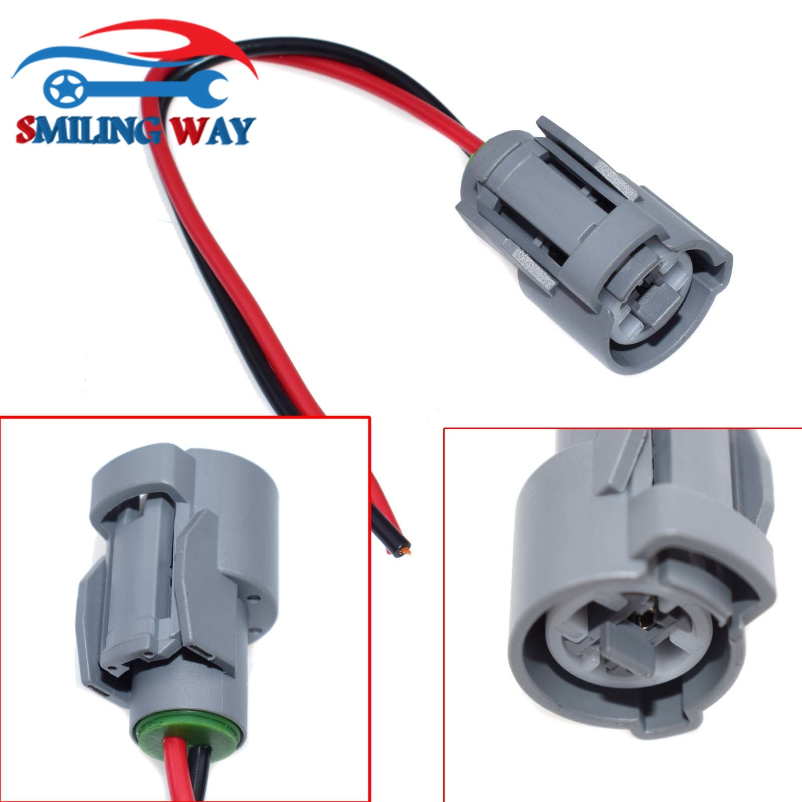 SMILING WAY# IAT ECT VTEC Sensor Connector Wire Harness Wiring Pigtail Plug  For Honda Acura Civic Element Pilot-in Fuel Inject.