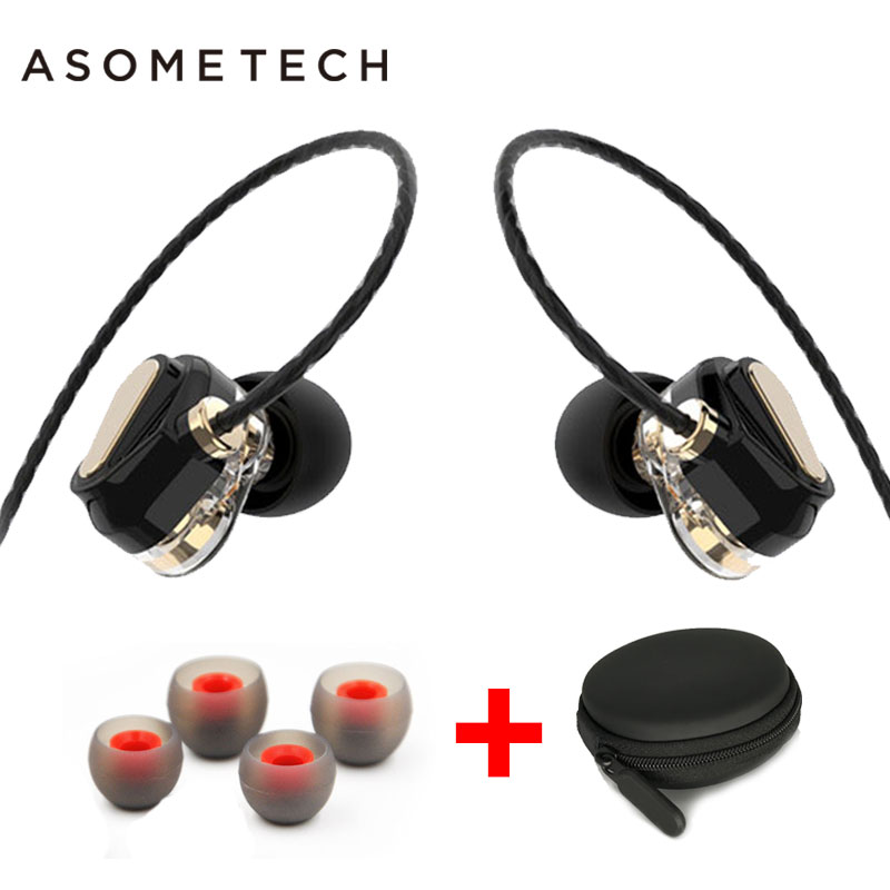 4 Speaker Dual Dynamics Sport Earphone For iPhone Xiaomi Xiomi 6 Stereo In Ear Headset 3.5mm Wired HIFI Music Earphones With Mic original xiaomi xiomi mi hybrid earphone 1more design in ear multi unit piston headset hifi for smart mobile phone fon de ouvido