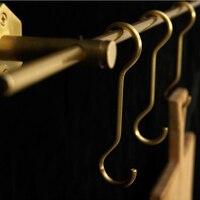5 pcs Nordic gold Brass Modern Design Wall Door golden clothes Robe S shape Hook Rack geometric room bathroom coat Rail Decor