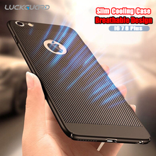 LuckGuard Heat Dissipation Phone Case For iPhone 7 6 6s 5 5s se Luxury Slim Thin Hard PC Back Cover For iPhone 7 6 s Plus Shell