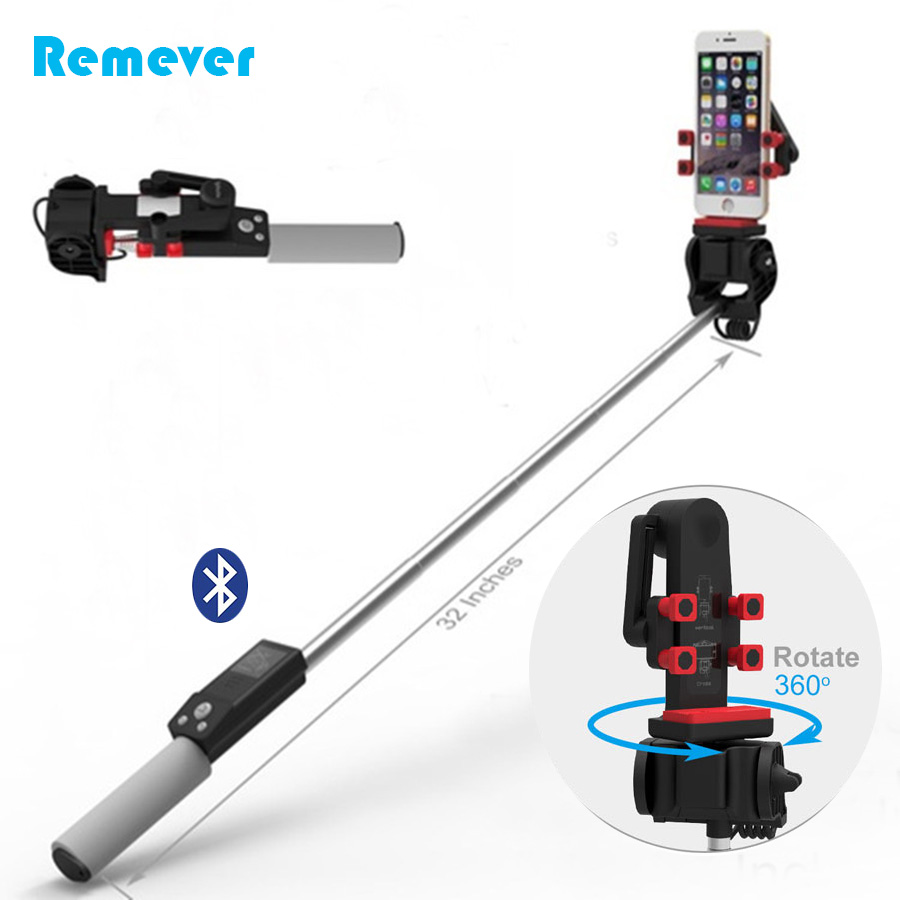 New Fashion Mini Wireless Bluetooth Selfie Stick Handheld Monopod 360 Degree Rotation for iPhone Android Xiaomi Smartphones