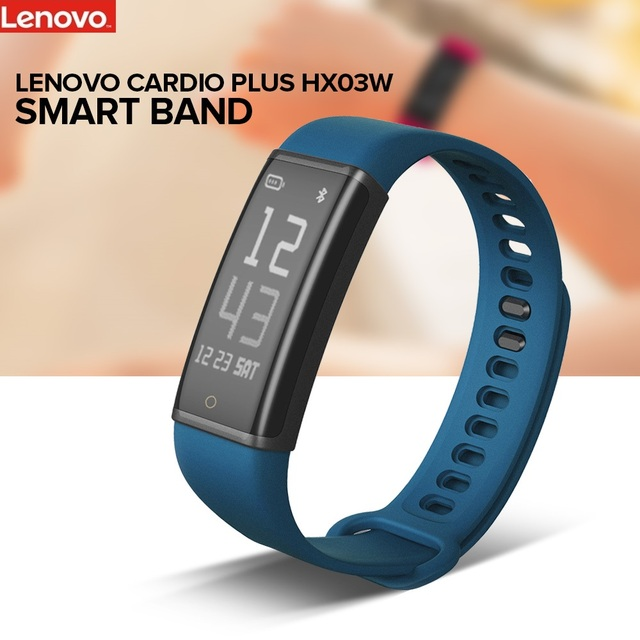 Lenovo Cardio Plus HX03W Smart Band Bracelet Bluetooth 4.2 IP68 Waterproof Sport Wristband Heart Rate Sleep Monitor Pedometer