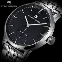 패션 캐주얼 남성 비즈니스 시계 남성 방수 30 메터 간단한 쿼츠 시계 럭셔리 브랜드 파가니 디자인 Relogio Masculino